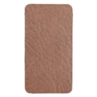 Textura del cuero de Brown del moreno Funda Para Galaxy S4