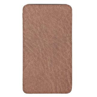 Textura del cuero de Brown del moreno Funda Para Galaxy S5