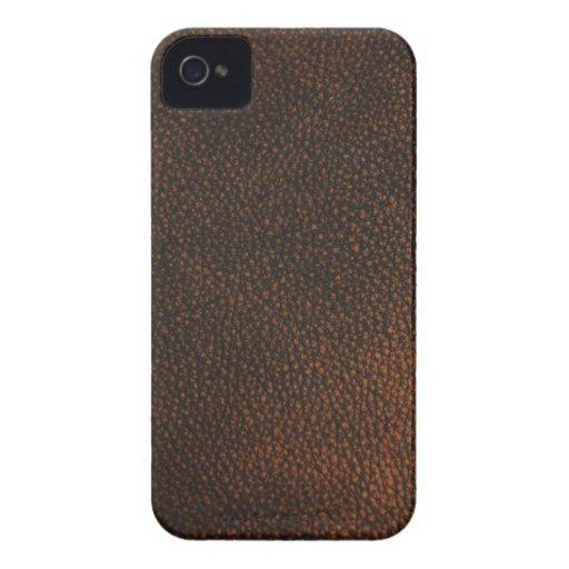 Textura del cuero de Brown iPhone 4 Cobertura