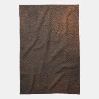 Textura del cuero de Brown Toallas