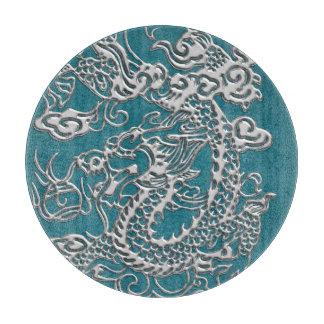 Textura del cuero de los dragones de la astilla tablas de cortar