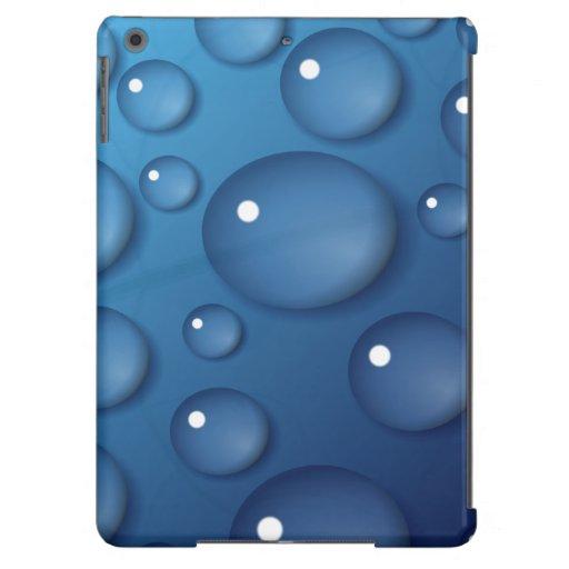 Textura del descenso del agua azul