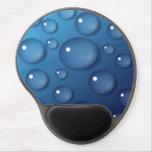 Textura del descenso del agua azul alfombrillas de ratón con gel