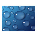 Textura del descenso del agua azul postal