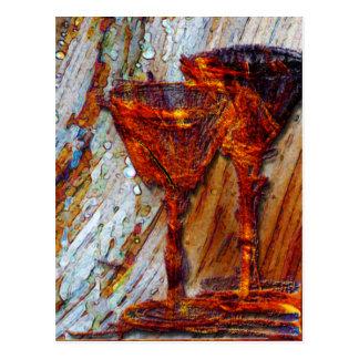Textura del diseño del extracto de las copas de tarjetas postales