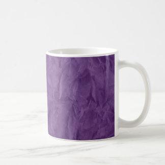 TEXTURA del DOCUMENTO de información - violeta Taza Básica Blanca