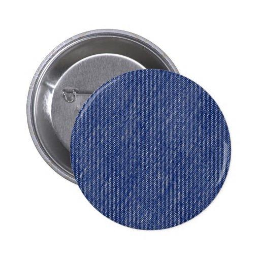 Textura del dril de algodón de los tejanos pin redondo 5 cm