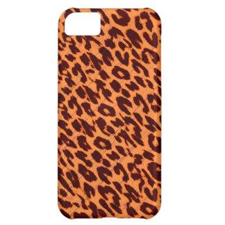 Textura del estampado de animales del leopardo funda para iPhone 5C