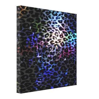 Textura del extracto de la piel del leopardo del a impresión en lienzo