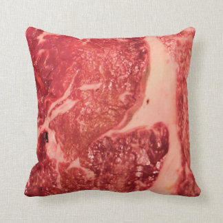 Textura del filete de Ribeye de la carne cruda Cojín