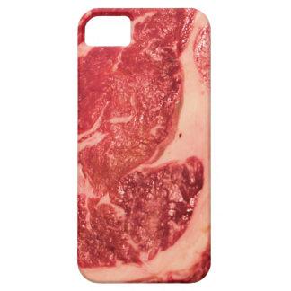 Textura del filete de Ribeye de la carne cruda iPhone 5 Fundas