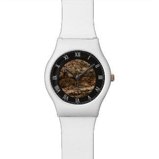 Textura del fondo de la corteza relojes de mano