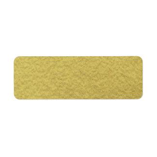 Textura del fondo de la hoja de oro etiqueta de remitente