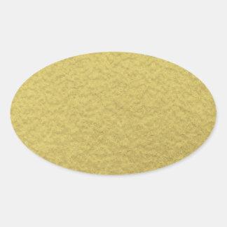 Textura del fondo de la hoja de oro pegatina ovalada