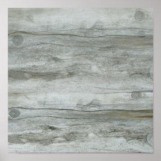 Textura del fondo del Driftwood Póster