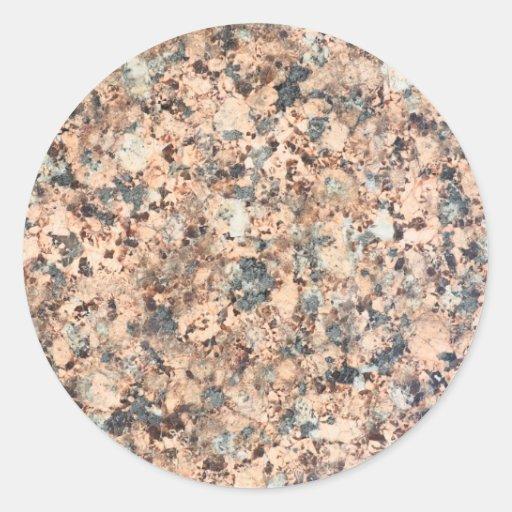 Textura del granito pegatinas redondas
