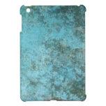 Textura del Grunge de la aguamarina iPad Mini Protectores
