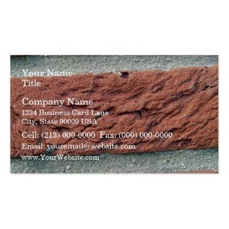 Textura del ladrillo rojo tarjetas de visita