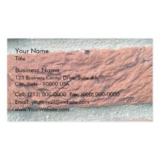 Textura del ladrillo rojo tarjetas de negocios