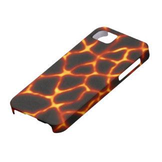 Textura del magma iPhone 5 Case-Mate protector