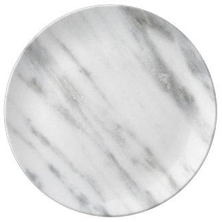 Textura del mármol de Carrara Platos De Cerámica