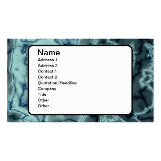 Textura del mármol de la turquesa tarjetas de negocios