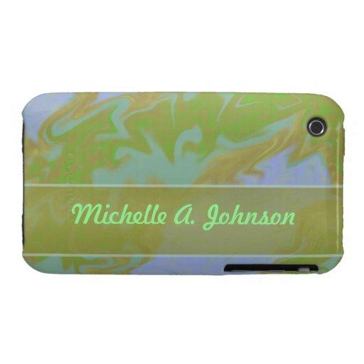 Textura del mármol del verde verde oliva funda bareyly there para iPhone 3 de Case-Mate