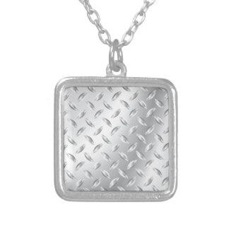 Textura del metal colgante cuadrado