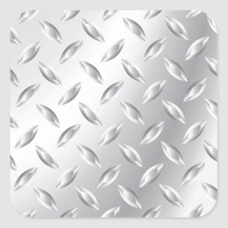Textura del metal pegatina cuadradas
