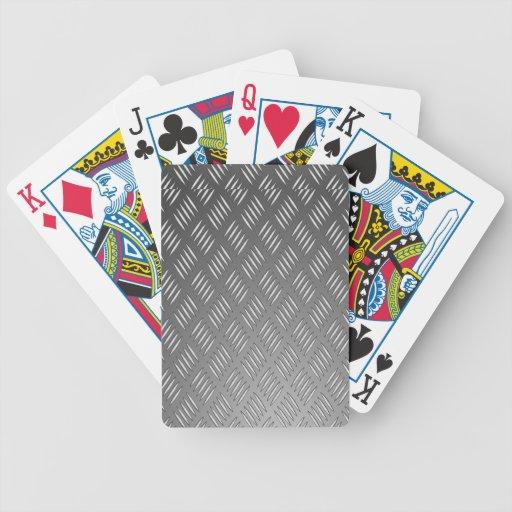 Textura del metal plateado baraja de cartas