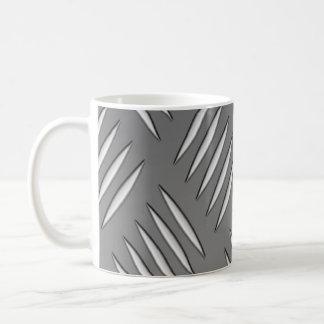 Textura del metal plateado tazas de café