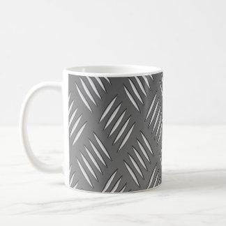 Textura del metal plateado taza de café