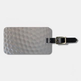 Textura del modelo de la pelota de golf etiqueta de maleta