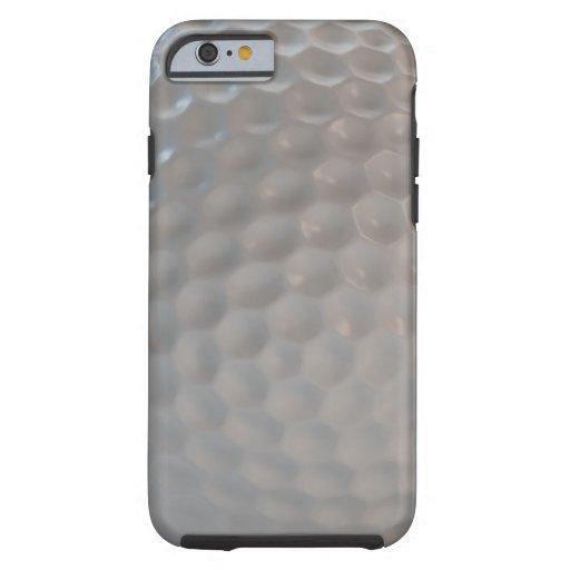 Textura del modelo de la pelota de golf funda de iPhone 6 tough