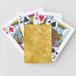 Textura del oro cartas de juego