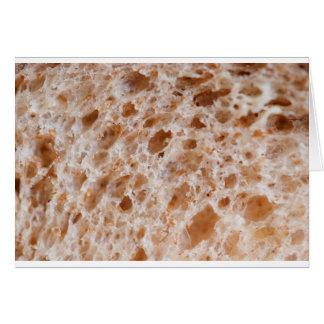 Textura del pan tarjeta de felicitación