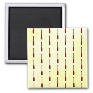 Textura del papel del modelo del remo imán cuadrado