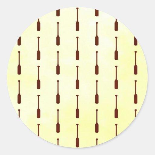Textura del papel del modelo del remo pegatina redonda