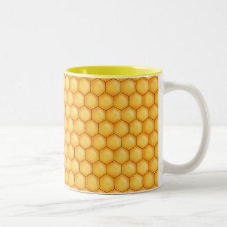 textura del peine de la abeja de la miel taza dos tonos