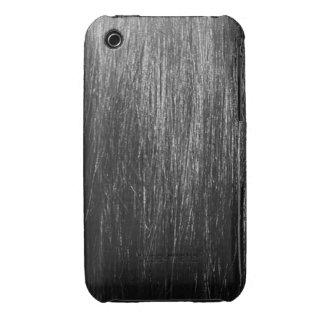 Textura del pelo negro Case-Mate iPhone 3 fundas
