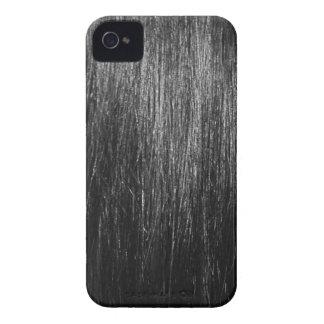 Textura del pelo negro iPhone 4 Case-Mate carcasa