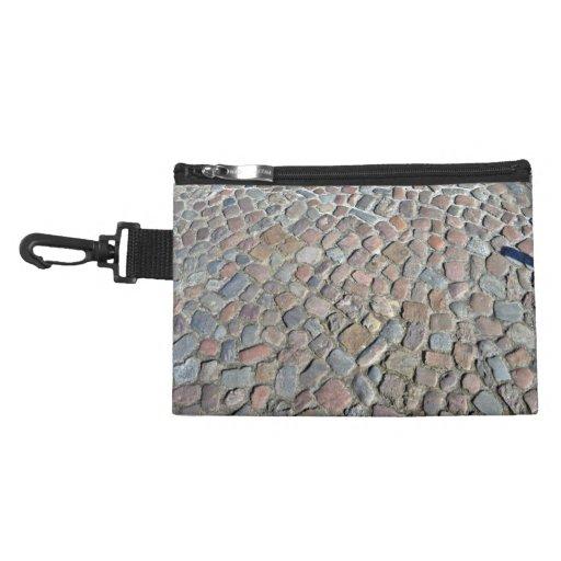 Textura del primer del pavimento de piedra viejo
