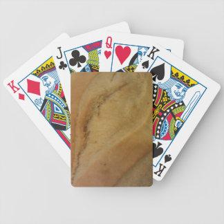 Textura del rollo francés baraja de cartas