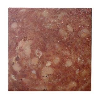 Textura del salami de Génova Azulejo Cuadrado Pequeño
