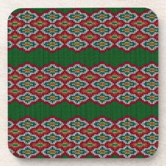 Textura del suéter de Argyle Posavasos