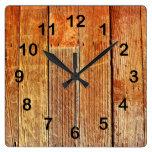 Textura del tablero de madera relojes de pared