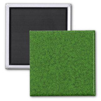 Textura del verde de hierba imán cuadrado