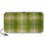 Textura del verde de la tela escocesa de la franel iPod altavoces