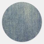 Textura descolorada de la tela del dril de algodón pegatinas