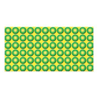 Textura desigual del verde amarillo tarjetas fotograficas personalizadas